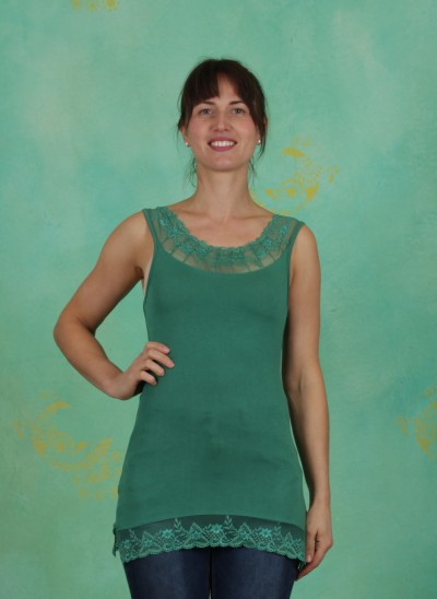 Top, Florence Top, bottle-green