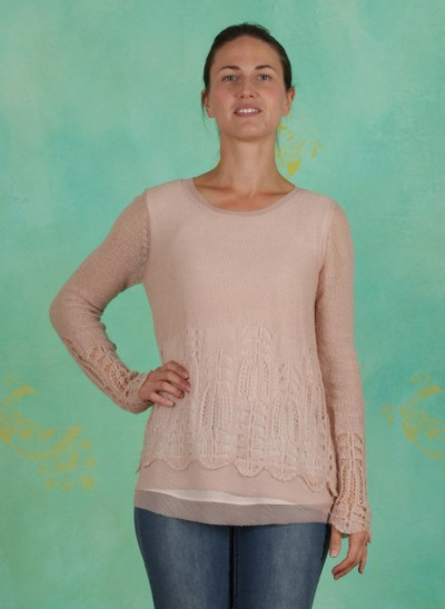 Pullover, Deana, rose-dust