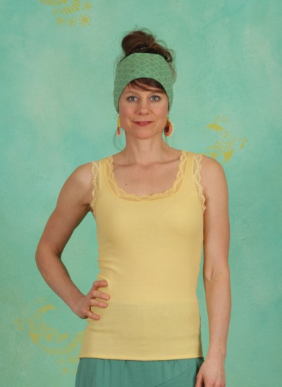 Top, Vanessa, cornsilk-yellow