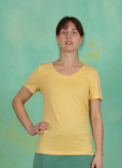 T-Shirt, Naia, cornsilk-yellow