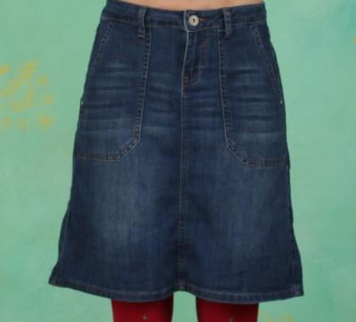 Rock, Denim Skirt, blue-medium-denim