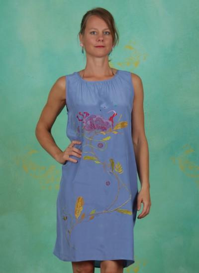 Kleid, Pivoine Robe, bleu
