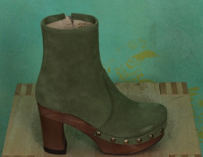 Schuhe, Isabell, suede-hellgrün