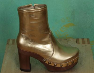 Schuhe, Isabell, metallic-gold