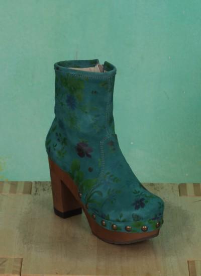 Schuhe, Isabell, flower-petrol