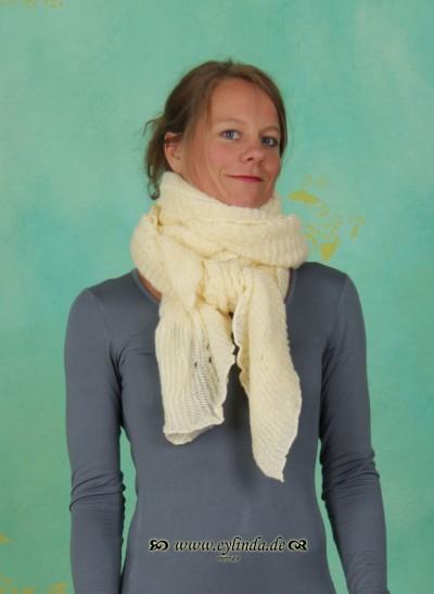 Schal, Sille, warm-off-white