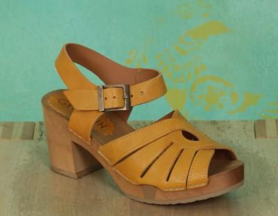 Schuhe, Anja, roma-gelb