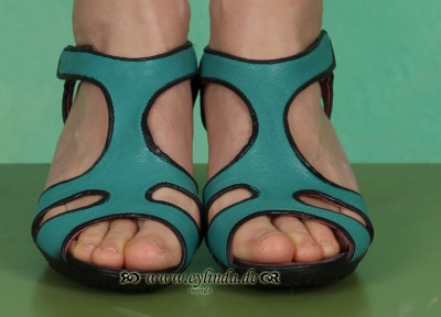 Schuhe, Libia, aquamarin/black