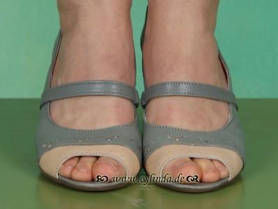 Schuhe, Anabel, palegreen/cream