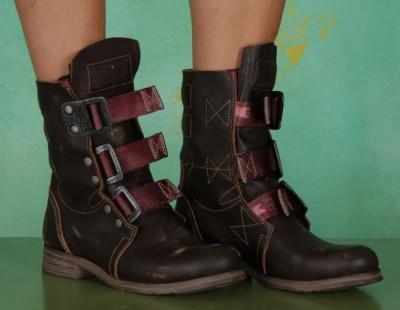 Schuhe, Stif, kraft-brown