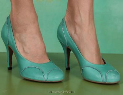Schuhe, Betty, cashmere-aqua