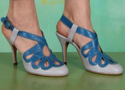 Schuhe, Blythe, mousse-grey-blue
