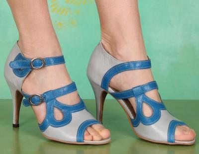 Schuhe, Benz, mousse-grey-blue
