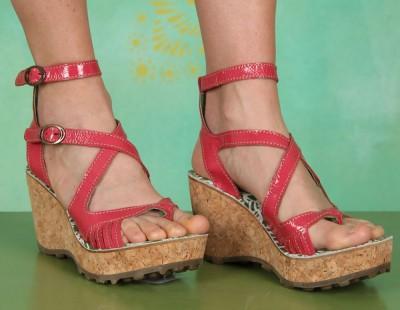 Schuhe, Glaze, patent-pink