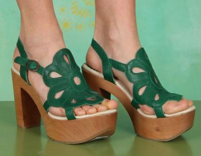 Schuhe, Sila, mousse-green