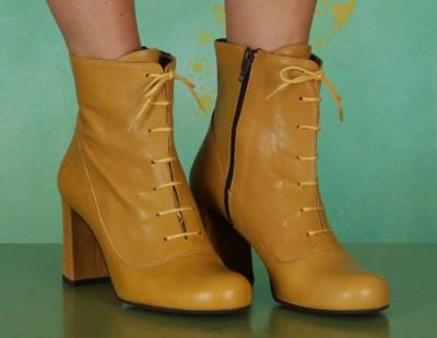 Schuhe, Cofi, mousse-cupido-mustard