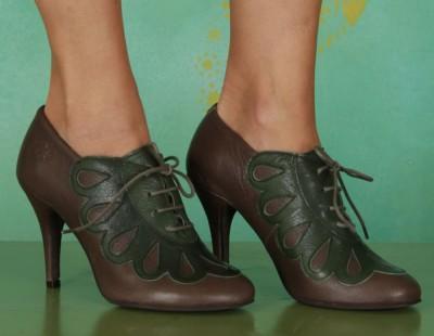 Schuhe, Bene, mousse-grey-green