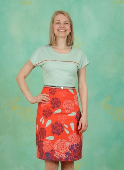 Kleid, Pattern, mint