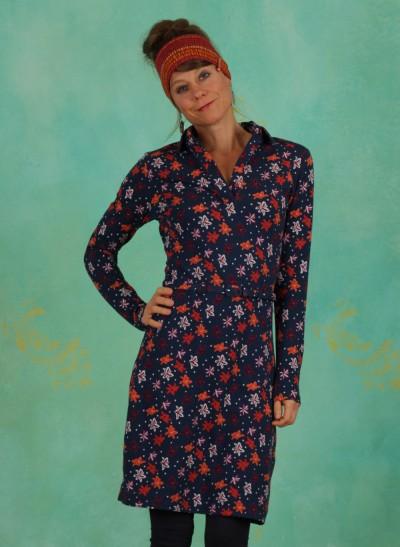 Kleid, 20W6323, blue-multi