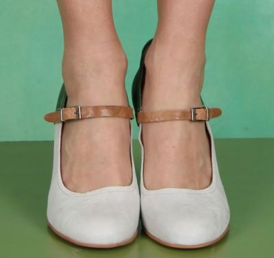 Schuhe, Athena Buckle Pump , green