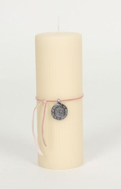 Kerze, Décor Candle (20cm), chalk