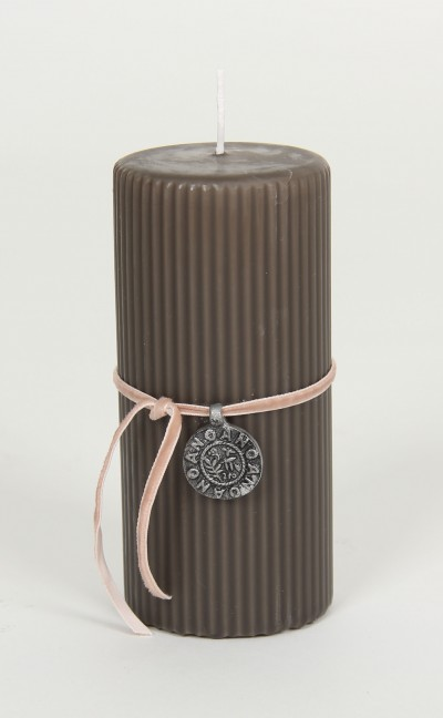 Kerze, Décor Candle (15cm), platin