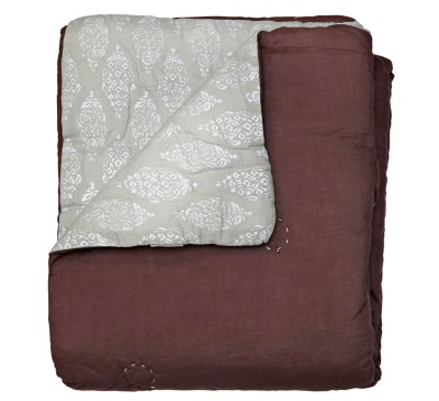 Decke, Décor ca.130x180cm, platin
