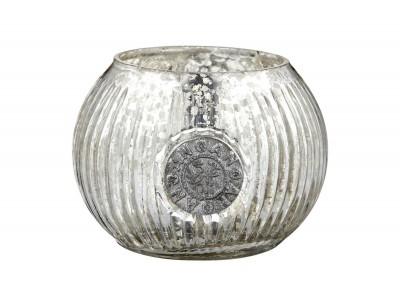 Teelichthalter, Décor, ant.-silver