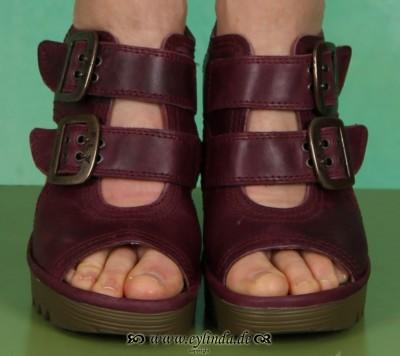 Schuhe, Pecam, rug/purple