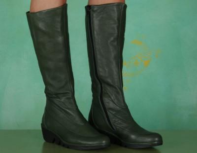 Schuhe, Patt, mousse-green