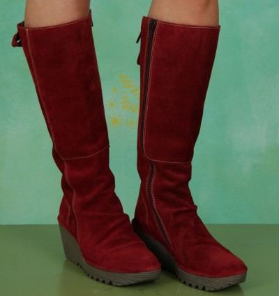 Schuhe, Yust, oil-suede-red