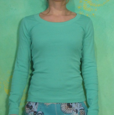 Top, Stacia, aqua turquise