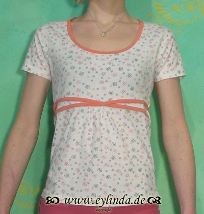 T-Shirt, Amy, peach spring