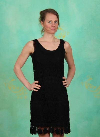 Kleid, Lacy, black-deep