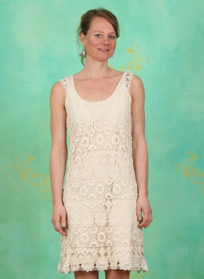 Kleid, Lacy, pearl-sand
