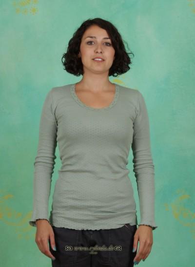 Shirt, Kitty, green-milleu