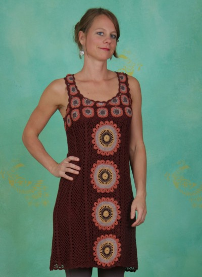 Kleid, Coco Crochet, rum-raison