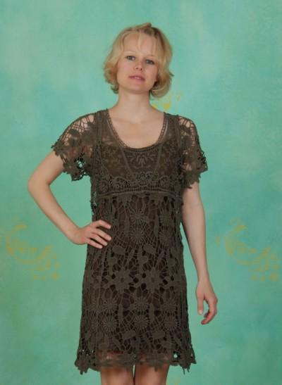 Kleid, Lacy, grey-brown