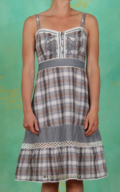 Kleid, Catelin, indigo stripe blue