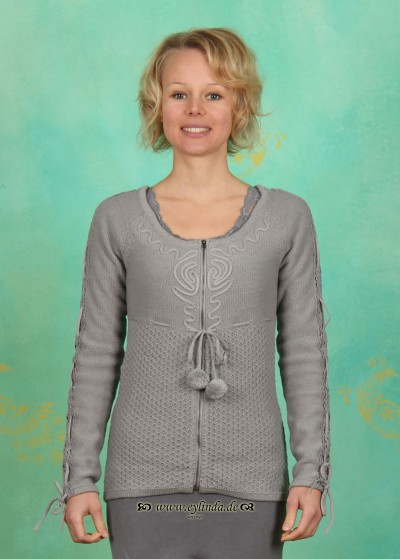 Cardigan, Freya, light-grey-melange