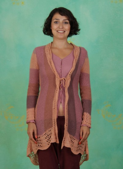 Strickcardigan, Bess, rose-copper