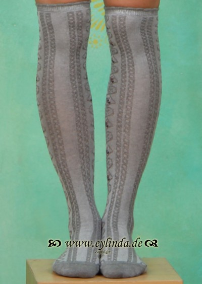Kniestrümpfe, BLB-0867, grey-melange
