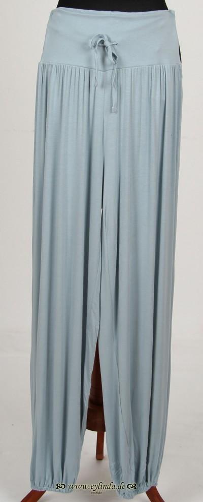 Hose, Basic-Viscose Trousers-02, ciel