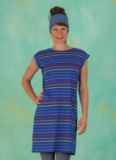 Kleid, D0501, blue-stripes