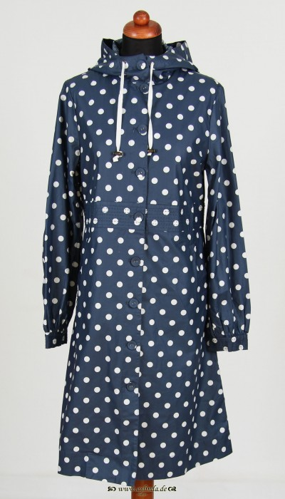 Regenmantel, Coated Cotton Dot, naval