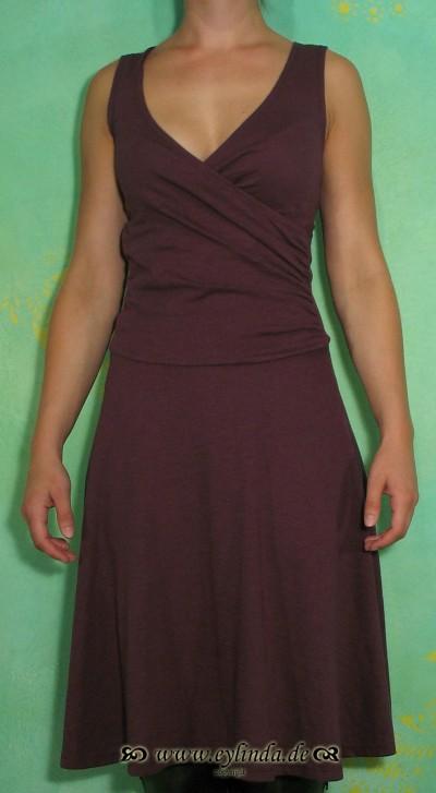 Kleid, Wrap, mahagoni