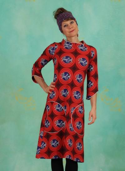 Kleid, DRE-01172, red-multi