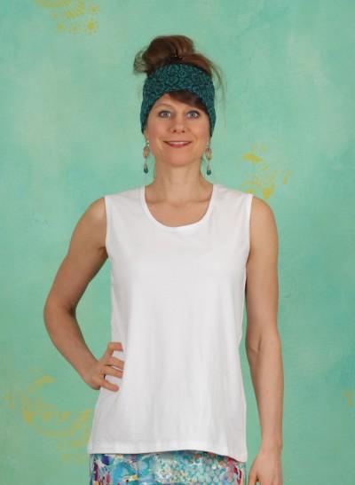 Top, Dafni Jersey, white