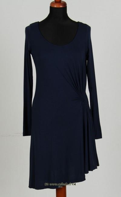 Kleid, Long Sleeve, naval