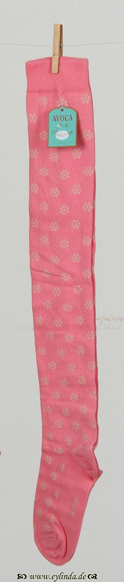 Strümpfe, Fleur-so, bright-pink
